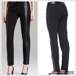 Tory Burch Faux Leather Mabley Pants Black XS EUC